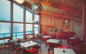 The Lounge in the Crystal Mtn. Lodge, c. 1960courtesy of Vintage Ski